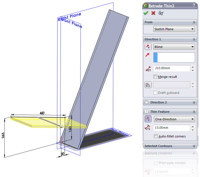 SolidWorks Extruded Boss/Base