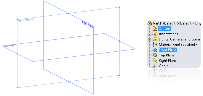 New 2D sketch in SolidWorks