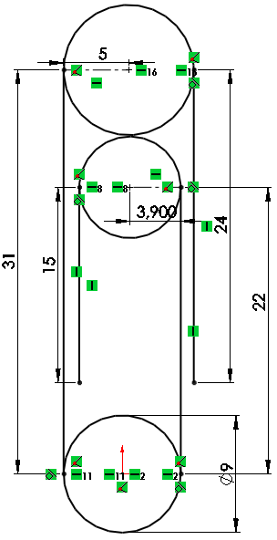 Draw a vertical line in SolidWorks