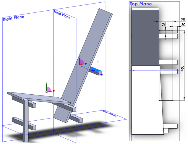011 How To Model The Rietveld Chair In SolidWorks How to Model a Rietveld Chair in SolidWorks?