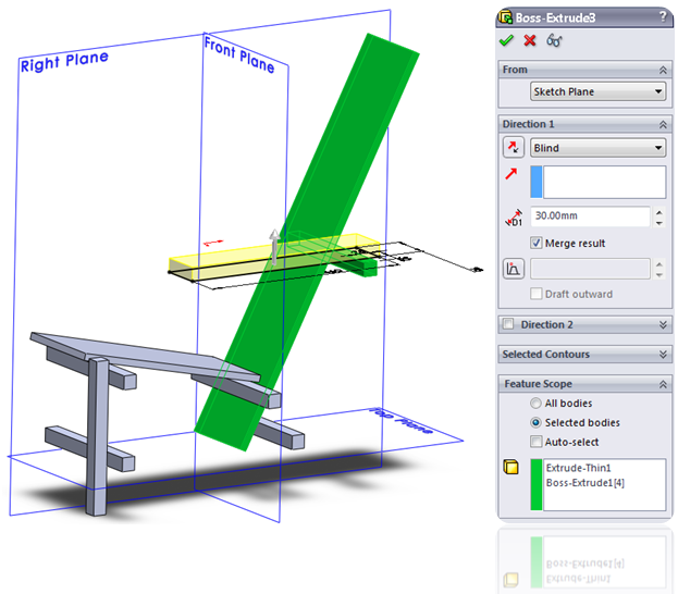 SolidWorks Extrude Feature