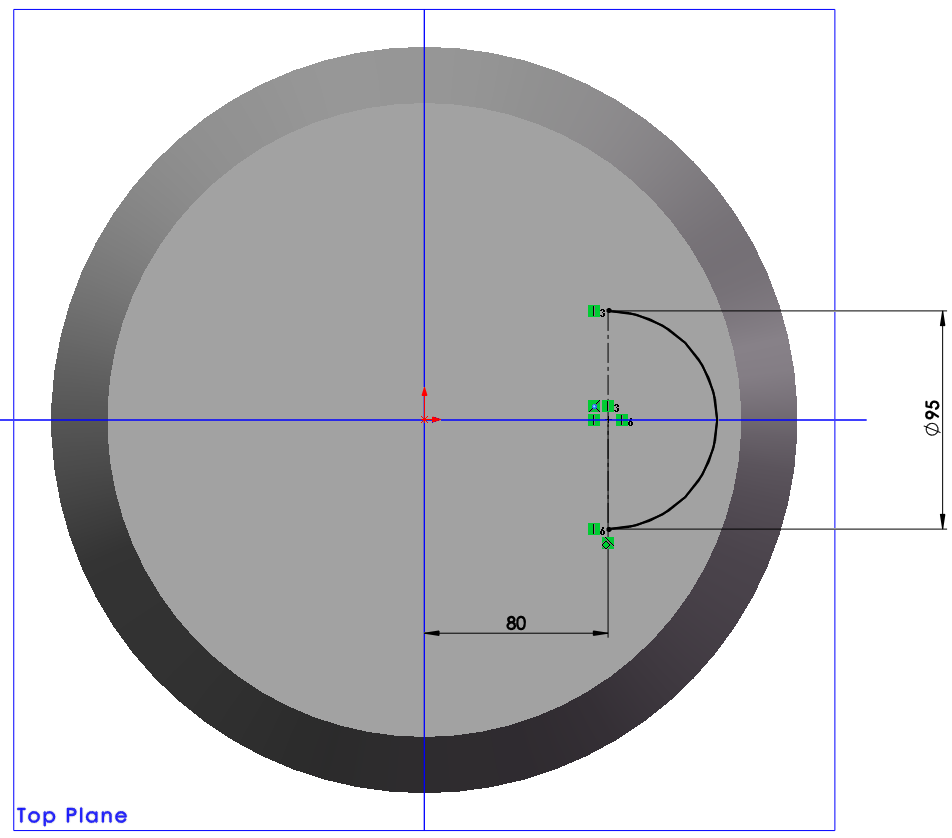 half circle line