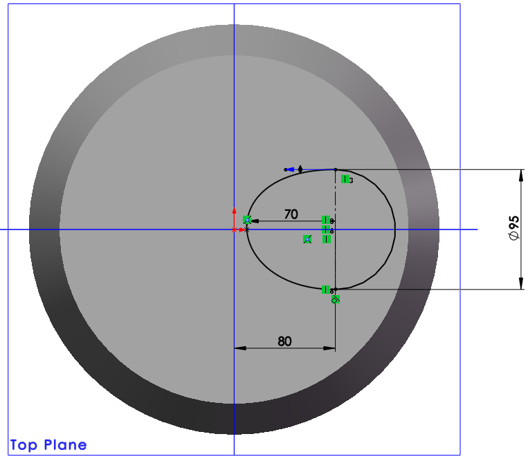 ellipse spline