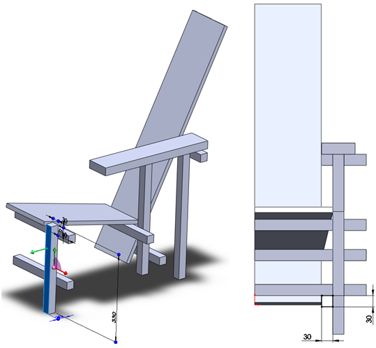 017 How To Model The Rietveld Chair In SolidWorks How to Model a Rietveld Chair in SolidWorks?