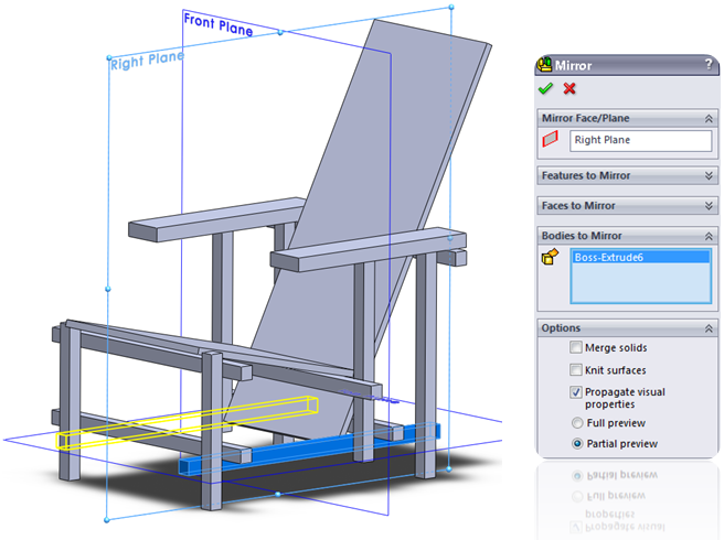 SolidWork Extrude Feature