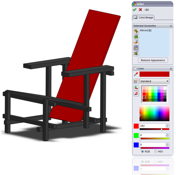 Assign a color to a Body in SolidWorks