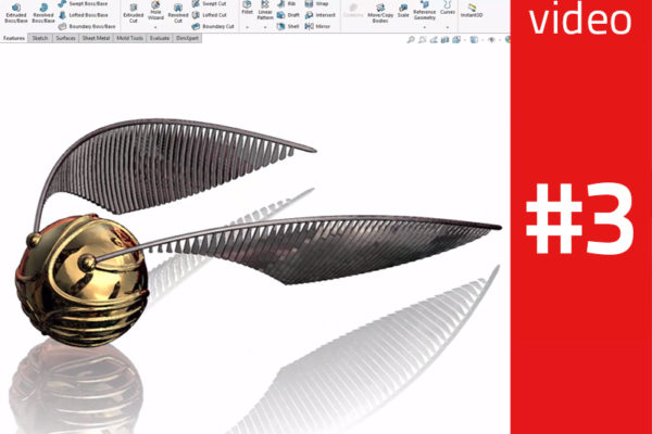 Harry Potter's Golden Snitch in SolidWorks