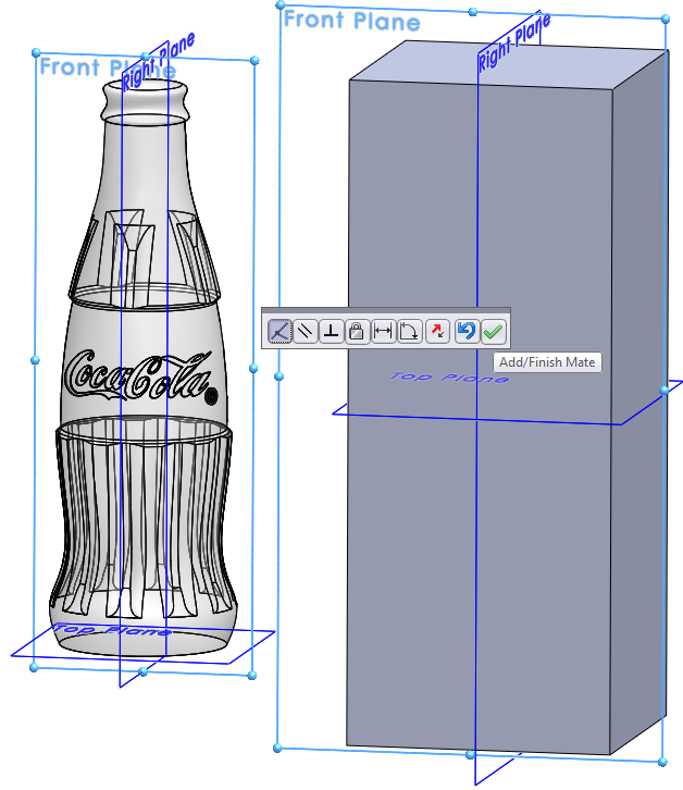 09 constrain model How to Draw a Coke Bottle Mold in SolidWorks?