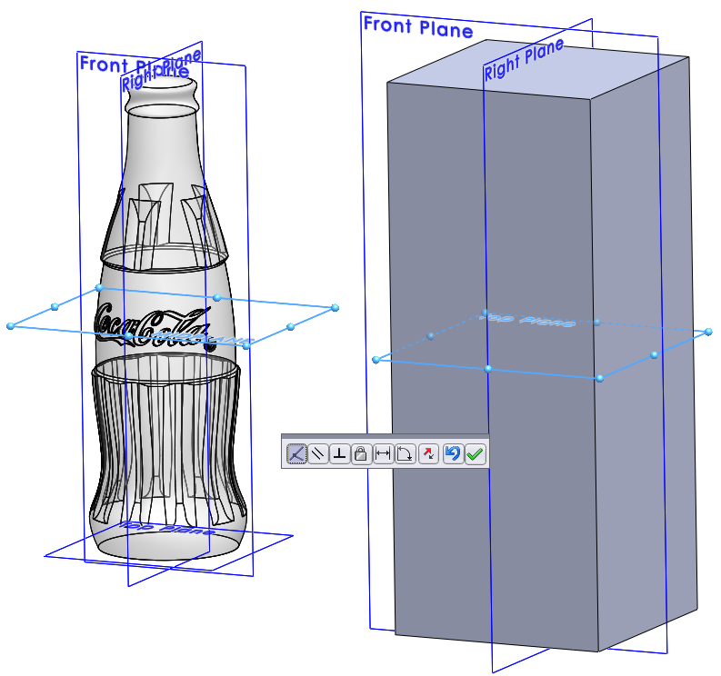 10 coincident mate How to Draw a Coke Bottle Mold in SolidWorks?