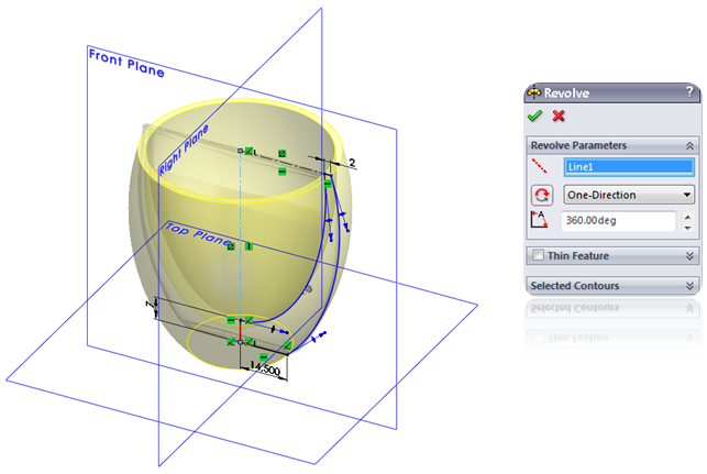 Revolve in SolidWorks