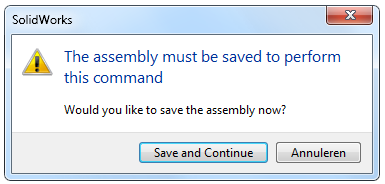 14 The assembly must be saved to perform this command How to Draw a Coke Bottle Mold in SolidWorks?
