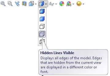 Viewbar in SolidWorks
