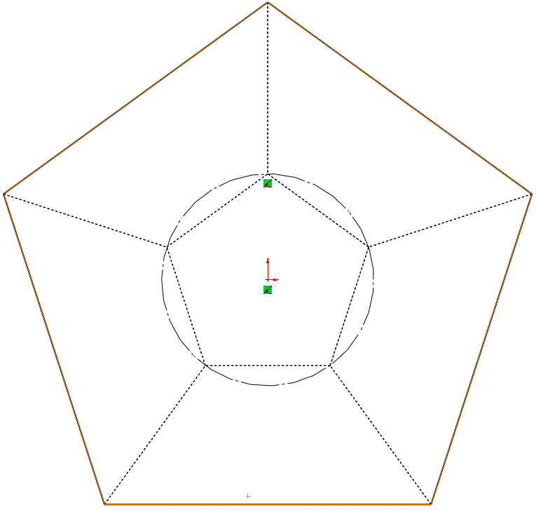 16 construction circle How to Model a Dodecahedron in SolidWorks?