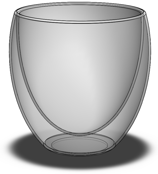 Double Walled Drinking Glass in SolidWorks