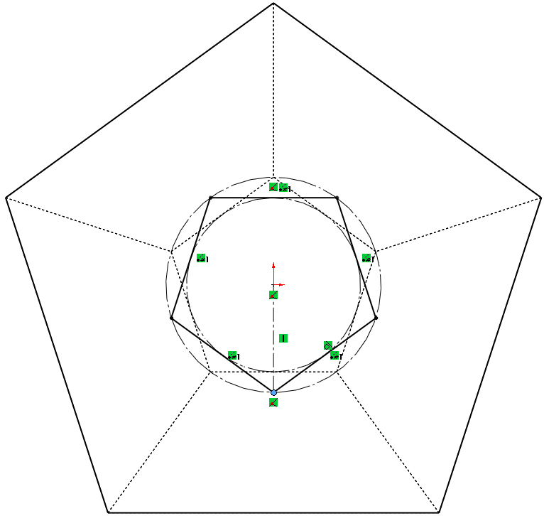 17 fixed polygon How to Model a Dodecahedron in SolidWorks?
