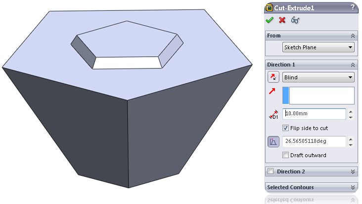 18 extruded cut How to Model a Dodecahedron in SolidWorks?