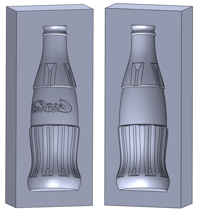 18 solidworks mold How to Draw a Coke Bottle Mold in SolidWorks?