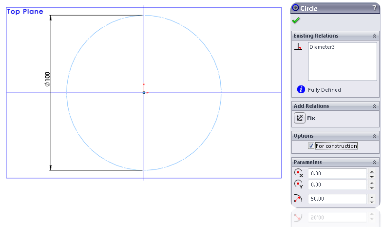 4 construction line circle How to Model a Dodecahedron in SolidWorks?
