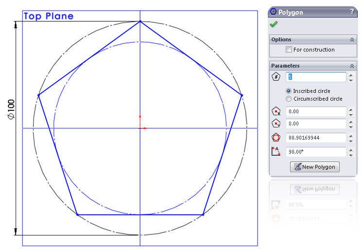 5 solidworks polygon How to Model a Dodecahedron in SolidWorks?