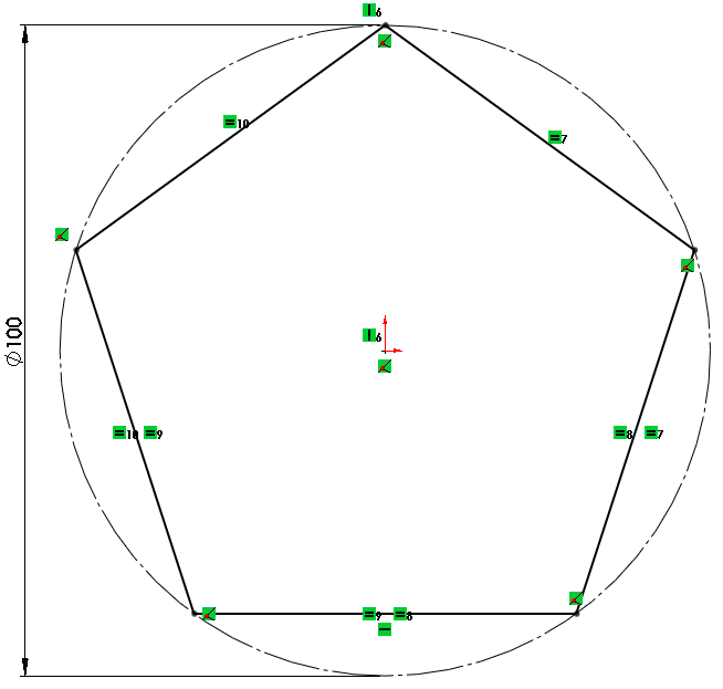 7 fix polygon How to Model a Dodecahedron in SolidWorks?