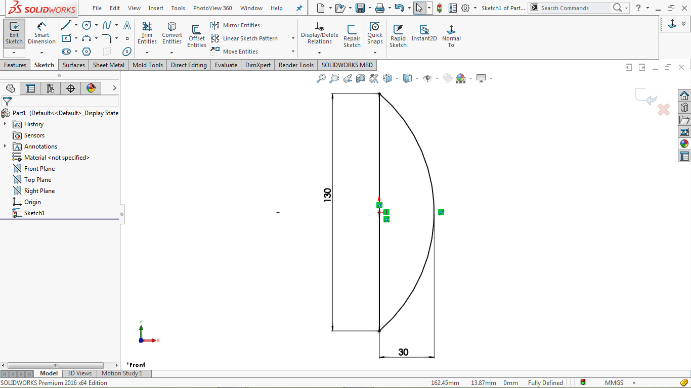 Closed 2d sketch in solidworks