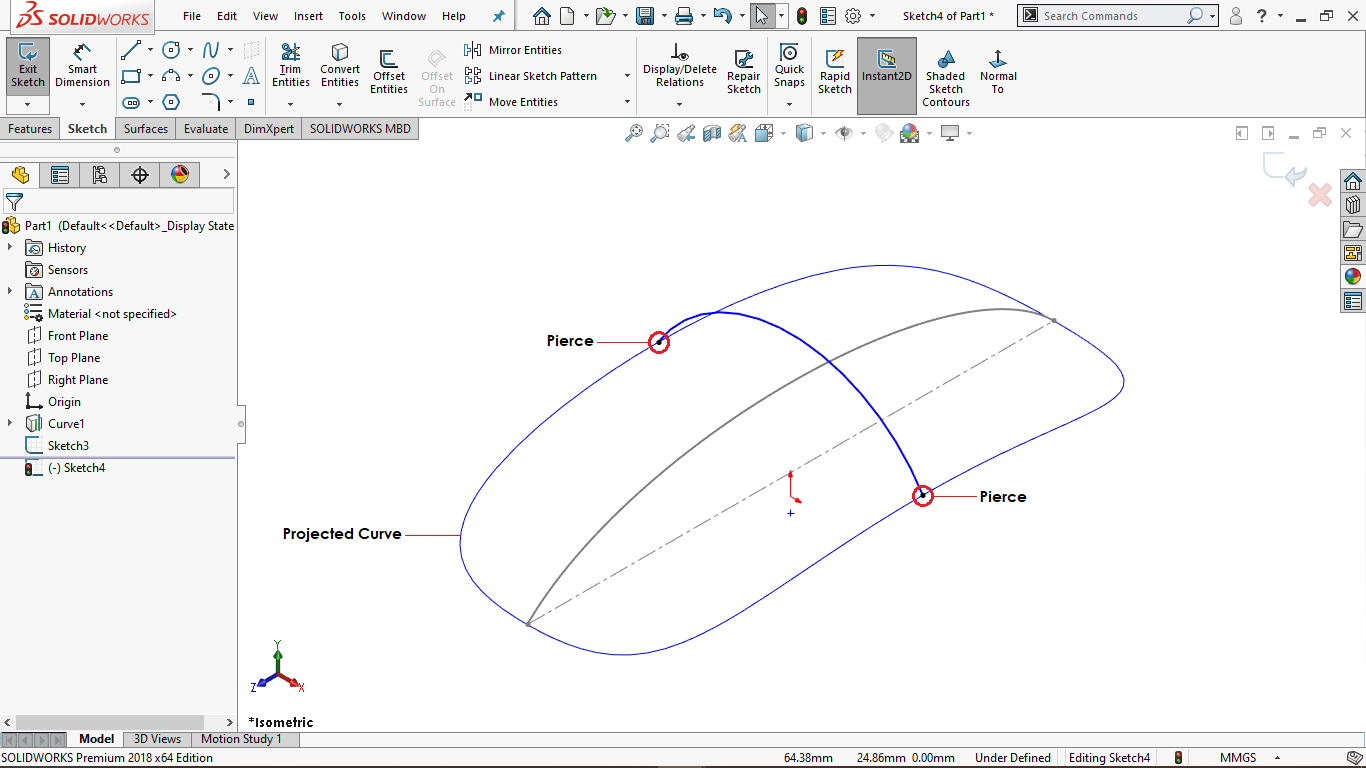 3 Point Arc in Solidworks
