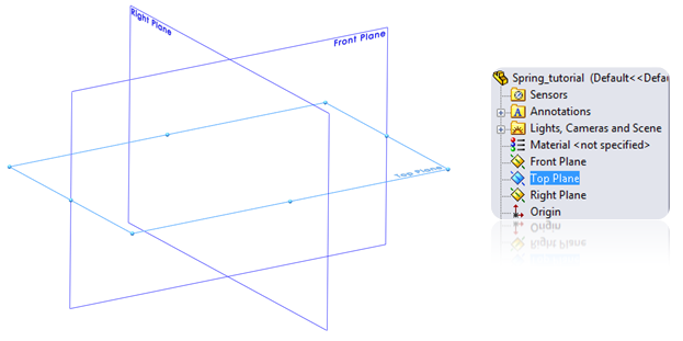 Make a 2D sketch