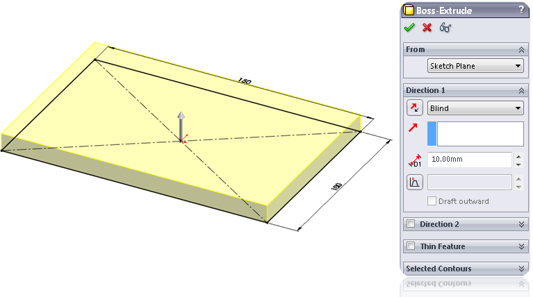 Draw a Blind Extrude