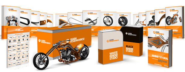 First prize of the Render Contest is the SolidWorks Chopper Tutorial