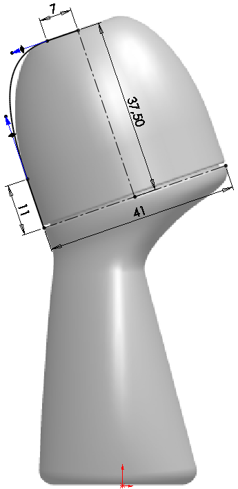 Deodorant Roller Tutorial 008 How to Model a Deodorant Roller in SolidWorks?