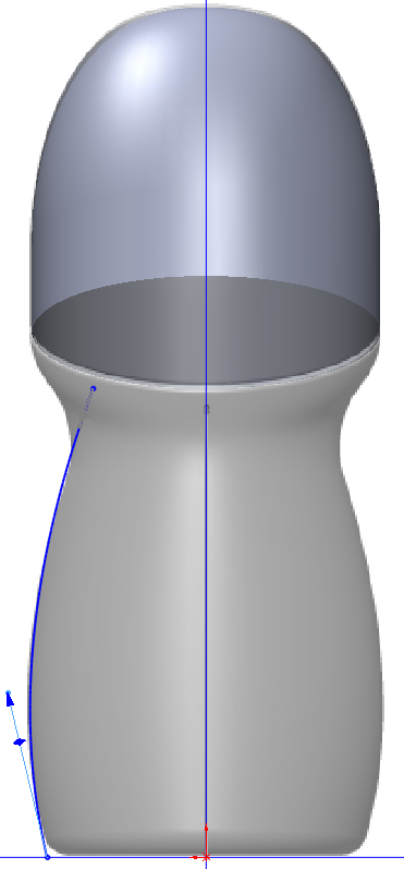 Deodorant Roller Tutorial 013 How to Model a Deodorant Roller in SolidWorks?