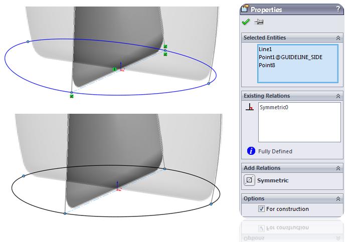 Symmetric spline