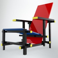 How to model a Rietveld Chair in SolidWorks?