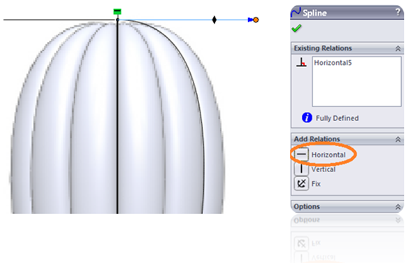 Change spline in SolidWorks