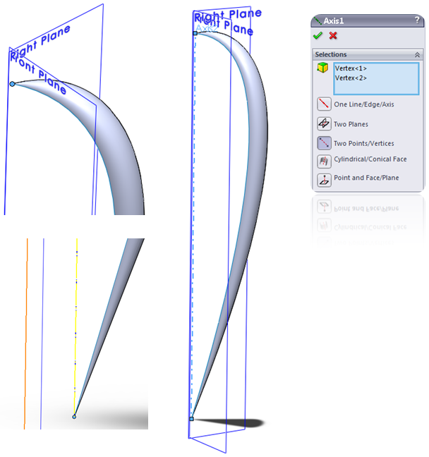 Create a new Axis in SolidWorks