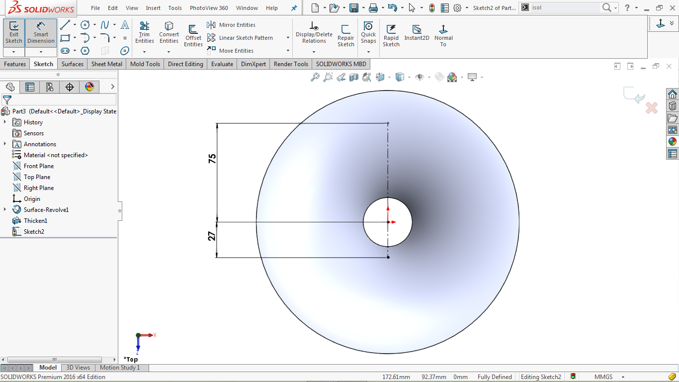 center lines in solidworks