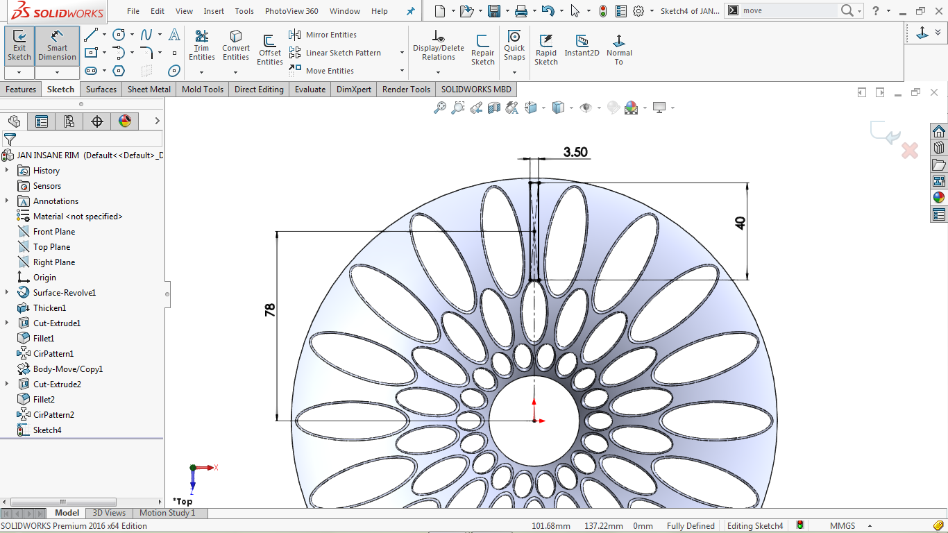 center rectangle in solidworks
