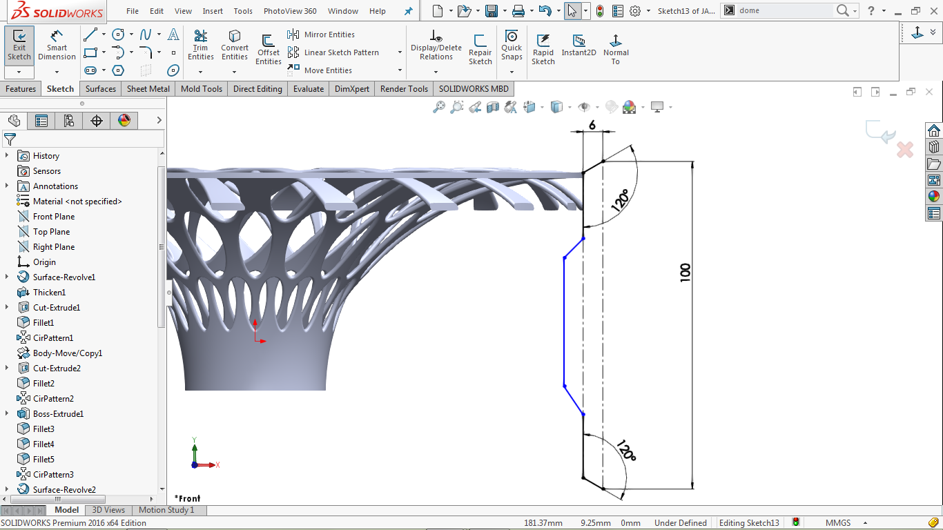 Partially defined 2d sketch in solidworks