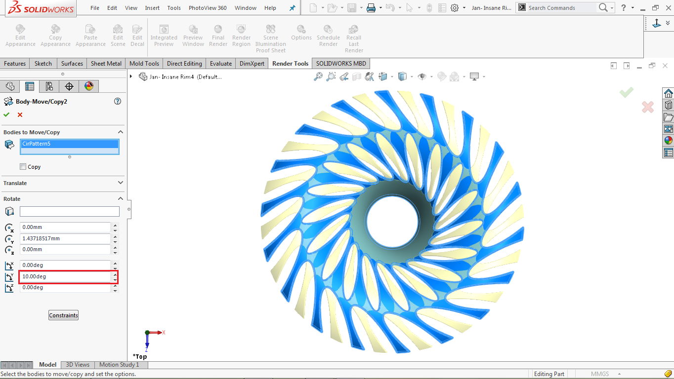 move copy body feature in solidworks