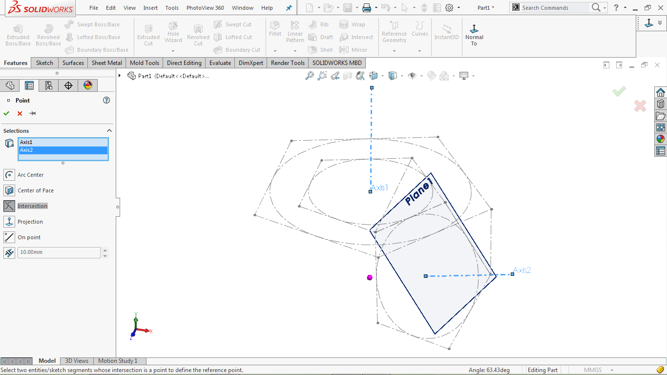 How to model an interlinked star geometry in SOLIDWORKS
