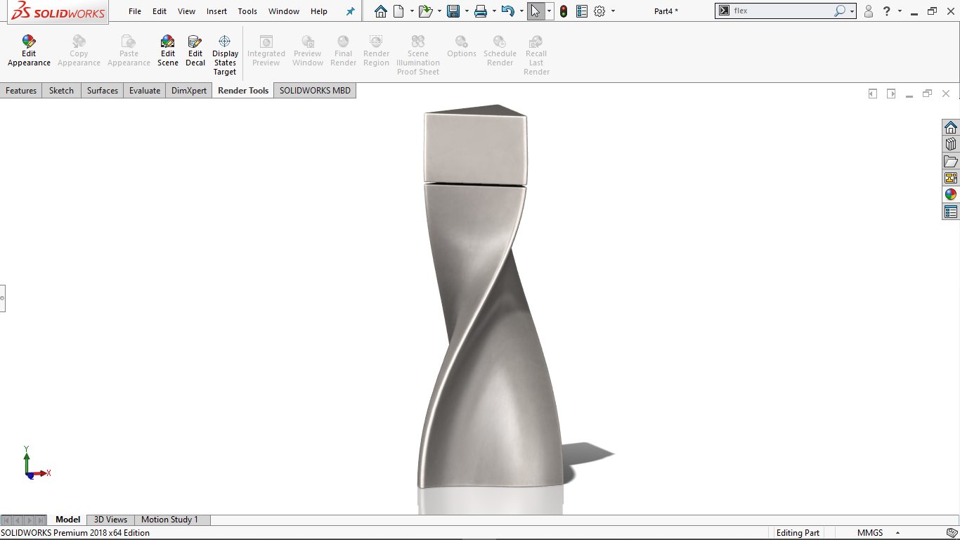 Real view image of a Pepper Shaker in solidworks