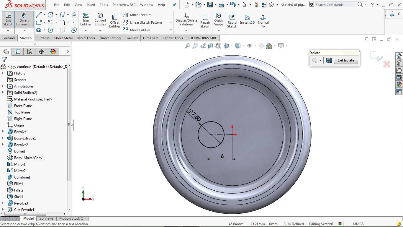 2d skecth in solidworks