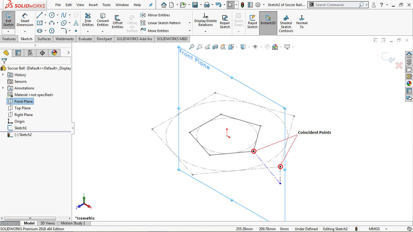 2d consructions lines in solidworks