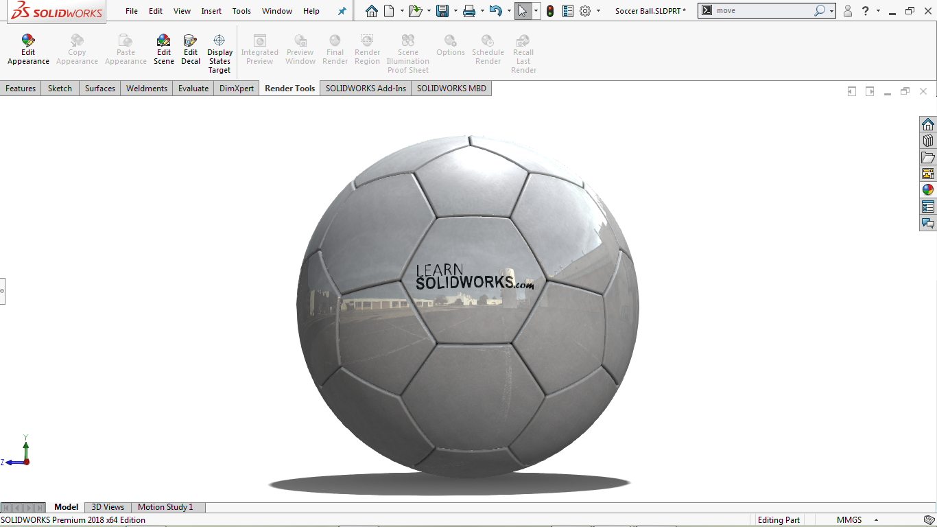 Real view image in solidworks