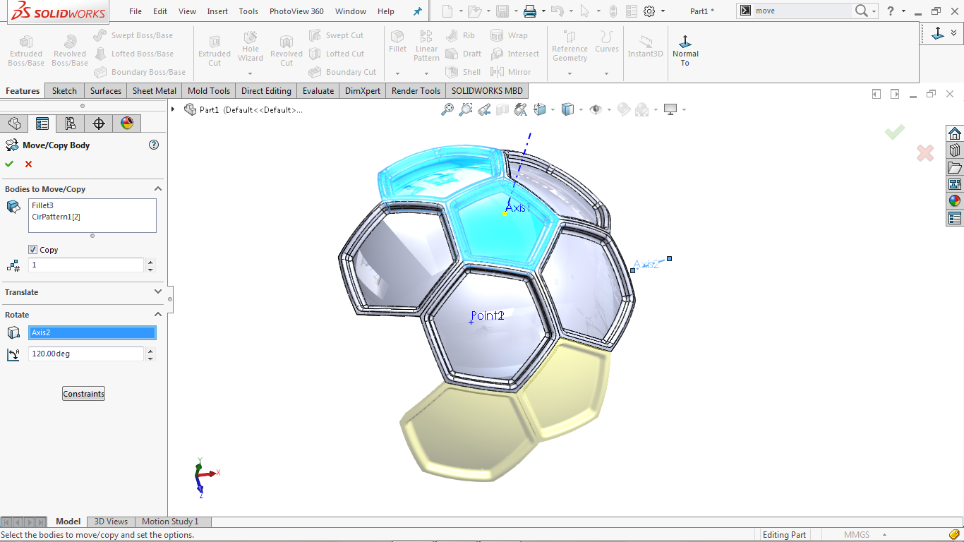 Move/Copy body tool in solidworks