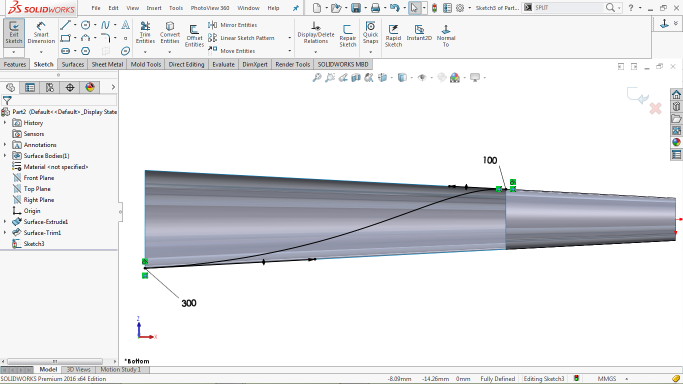 2d spline in solidworks