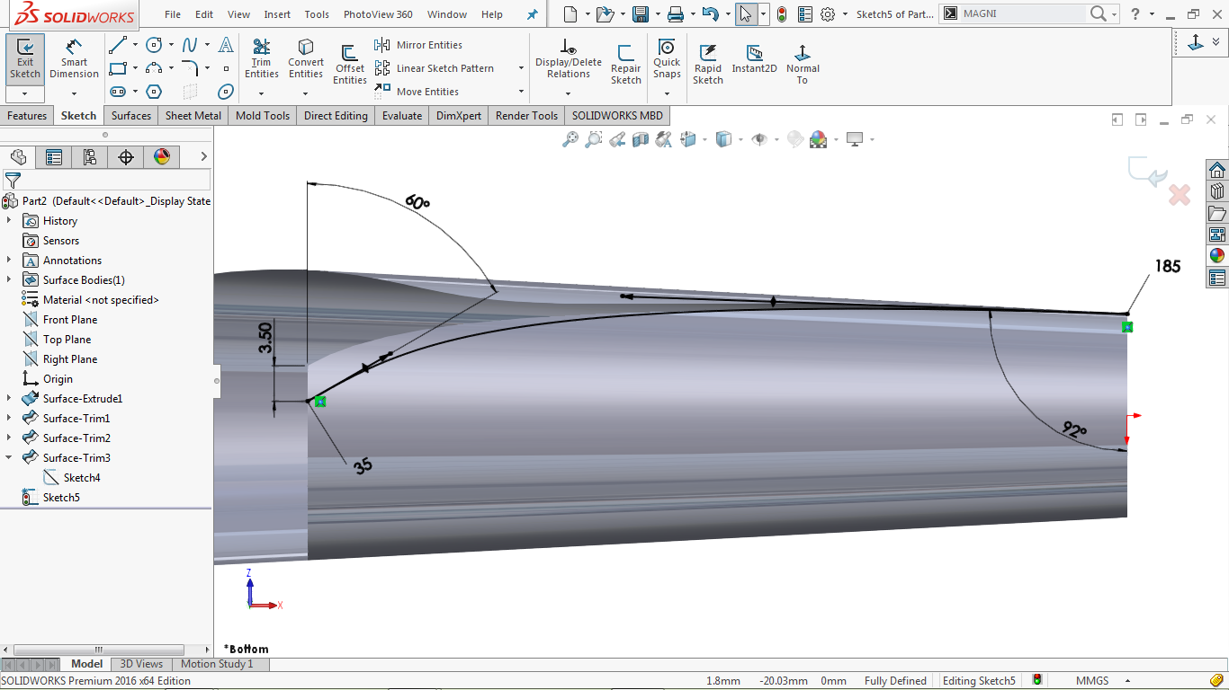2d splines in solidworks