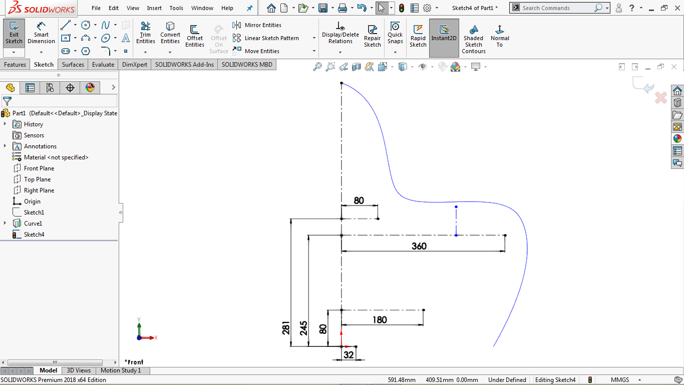 vertical centerline in solidworks