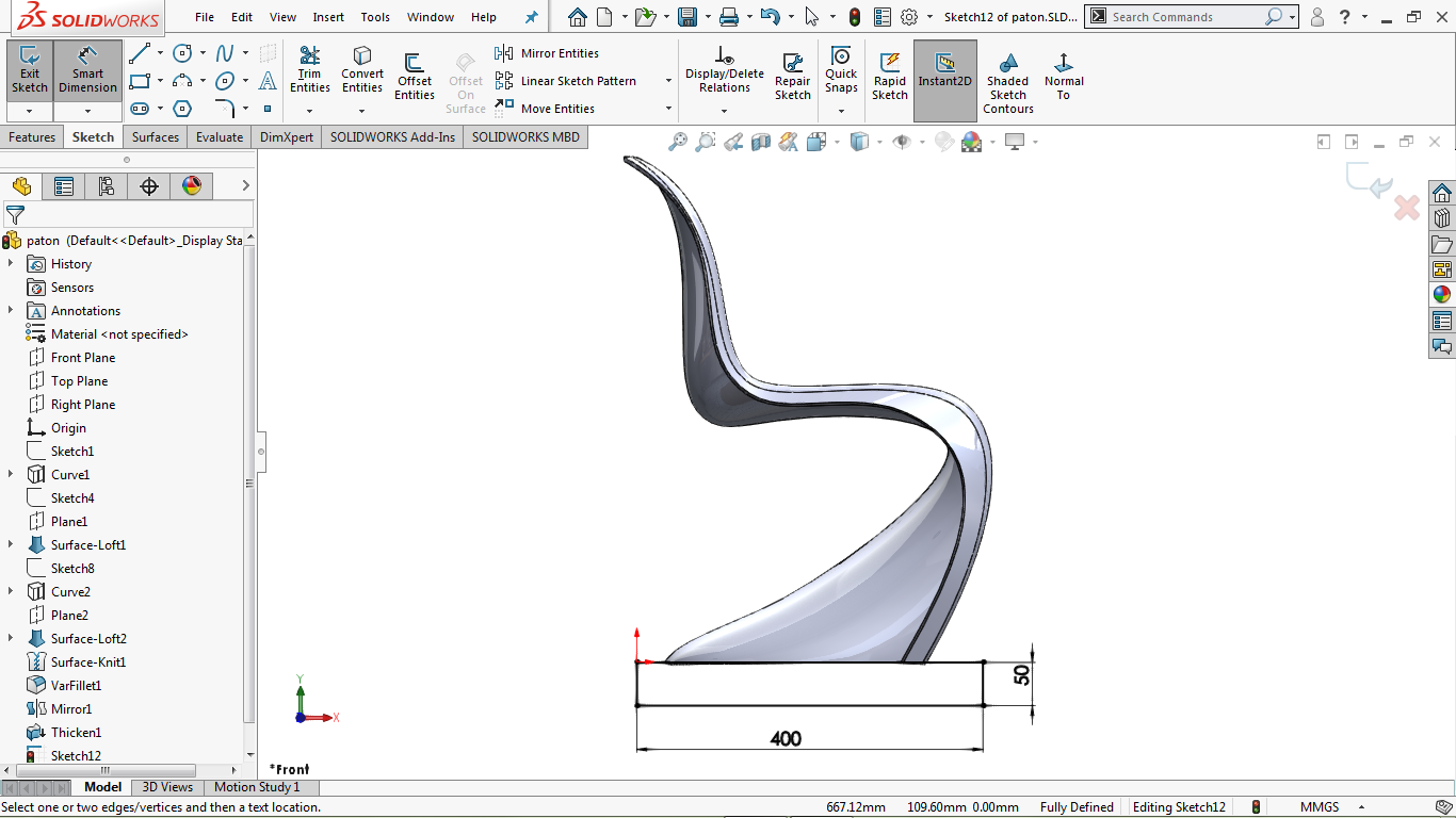 Corner rectangle in solidworks