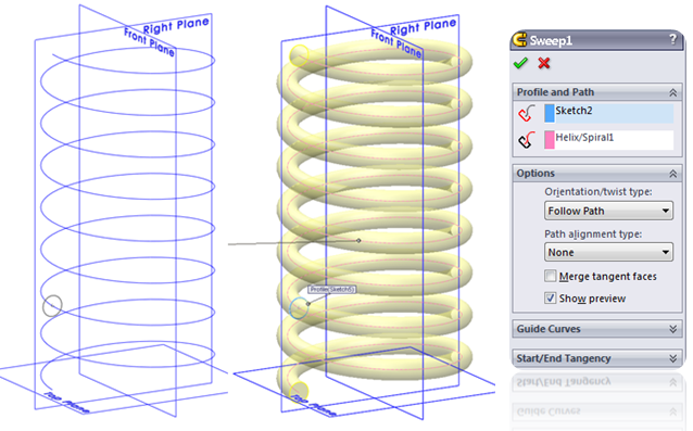 Spring 008 How to Model a Spiral in SolidWorks?